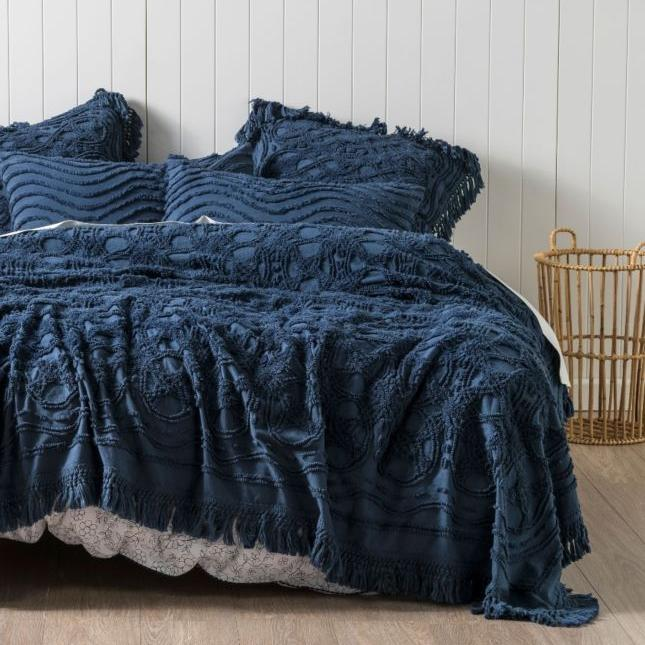 Linen House Blue Somers Bedspread From The Bedroom Shop Online
