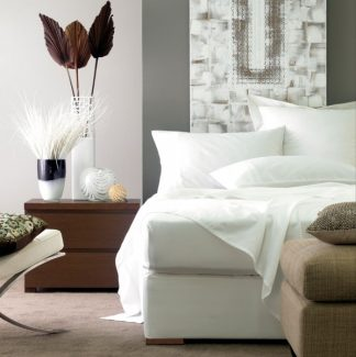 Linenhouse 250 Thread Count Cotton Percale Flat Sheets