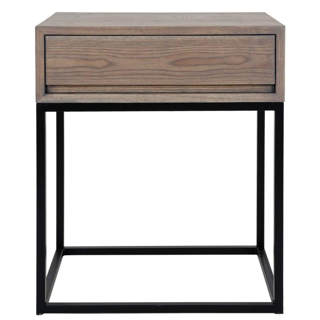 Max 1Drawer Bedside Table Ash Grey